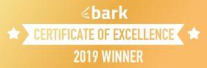 Bark certificate of excellence 2019 winner